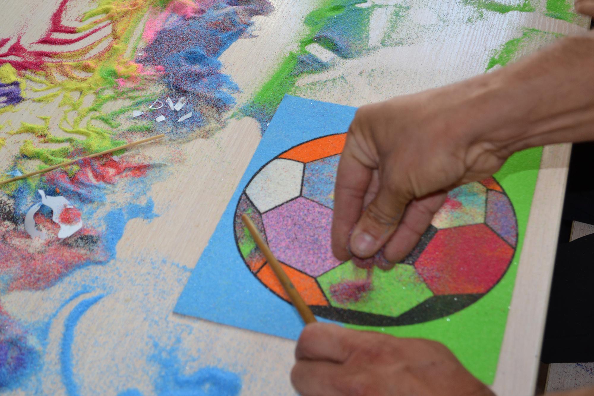 Картина из цветного песка своими руками 486
